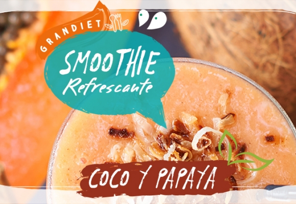 Smoothie de papaya y coco
